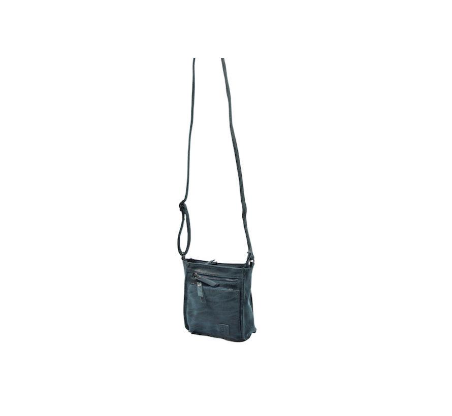 Bicky Bernard Shoulder Bag Dark Blue with 5 zippers - bag - bags - shoulder bag ladies - handbag - Dark Blue shoulder bag - shoulder bag girls -