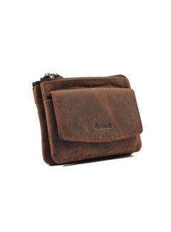 4East Key pouch wallet - wallet pouch - ring wallet - card holder with zipper - zipper wallet - 3 zipper wallet - buffalo leather wallet - wallet with 4 compartments