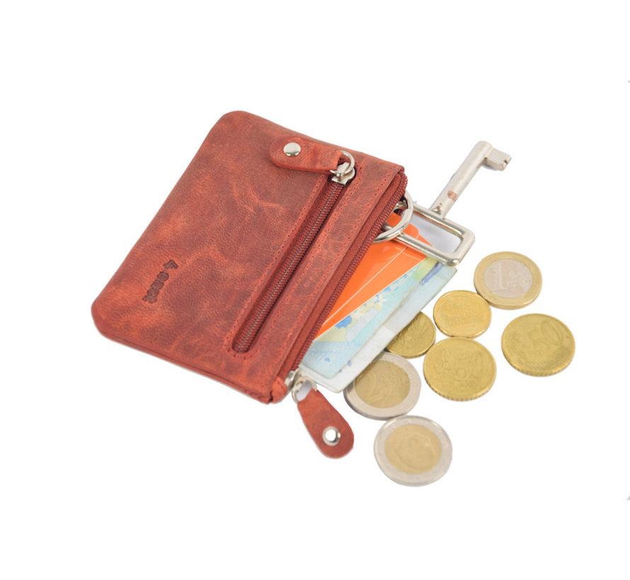 4East Buffalo leather key case Red