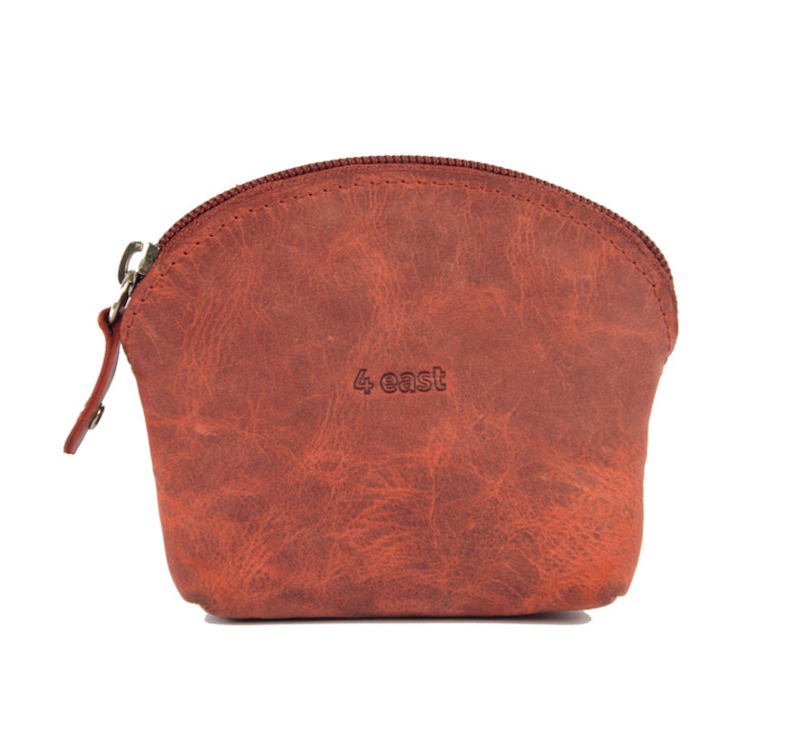 Wallet - holiday wallet - Compact wallet - Buffalo leather wallet - Small wallet - Wallet - Round wallet