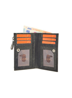 4East Wallet anti-skim - Wallet buffalo leather - Wallet with 10 cards - Small wallet - wallet compact black - RFID