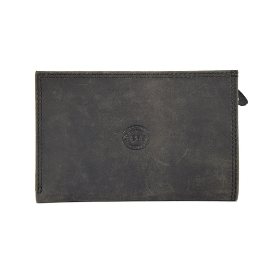 Portemonnee anti-skim - Portemonnee buffelleer - Portemonnee met 10 pasjes - Kleine portemonnee - portemonnee compact Zwart - RFID