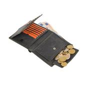4East Portemonnee met veel pasjesruimte - 14 pasjes - Heren portemonnee - dubbel gestikt portemonnee - Buffelleer portemonnee - Buffelleder - billfold portemonnee - RFID