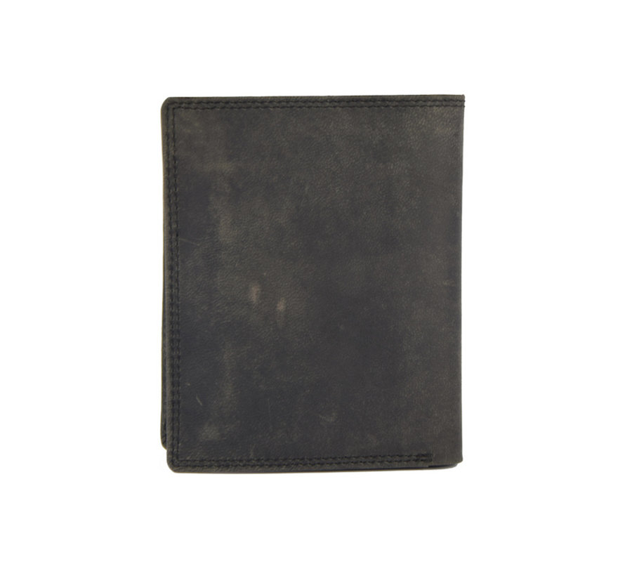Portemonnee met veel pasjesruimte - 14 pasjes - Heren portemonnee - dubbel gestikt portemonnee - Buffelleer portemonnee - Buffelleder - billfold portemonnee - RFID