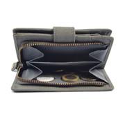 4East Wallet anti-skim - buffalo leather - Gray 4East