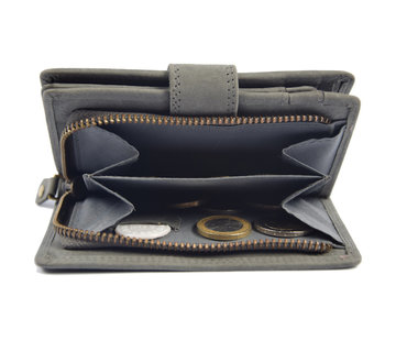 4East Wallet anti-skim - buffalo leather - Gray 4East