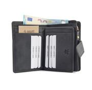 4East Wallet anti-skim - buffalo leather - black 4East