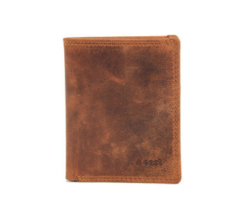 4East Cards wallet cognac buffalo leather 4East