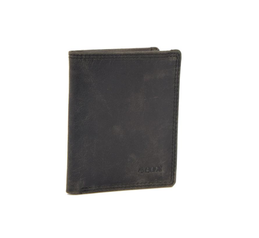 pasjes-folder / wallet black buffalo leather 4East