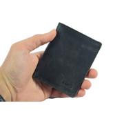 4East pasjes-folder / wallet black buffalo leather 4East