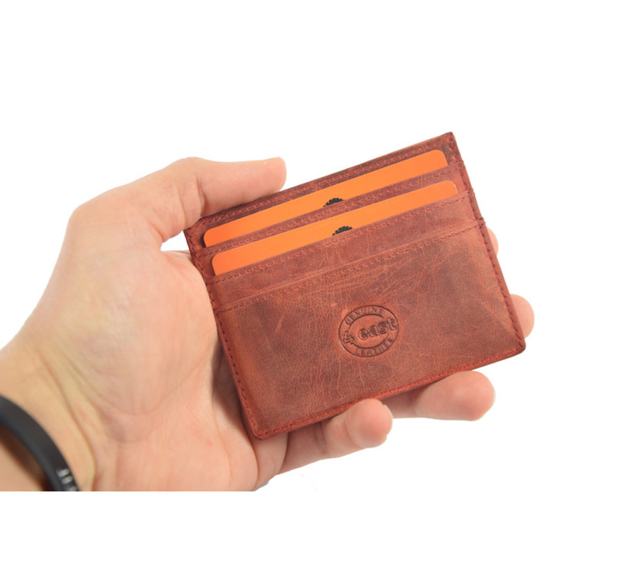 Card holder Buffalo leather red 4East