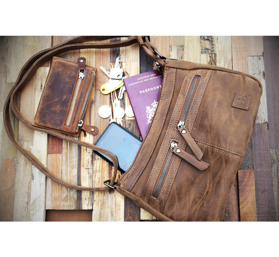 Bicky Bernard shoulder bag - ideal bags from Bicky Bernard WDL029 Camel