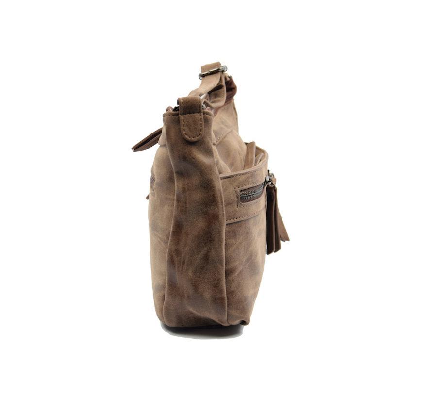 Bicky Bernard schoudertas - ideaal tassen van Bicky Bernard WDL029 donkerbruin