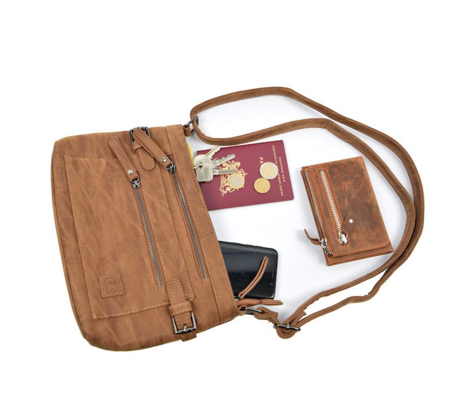 Tough shoulder bag - bicky bernard - Cognac