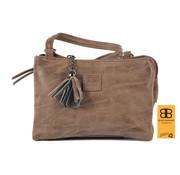 Bicky Bernard Tas - tasssen - bags - Bag- Bicky Bernard- Harmonica 3-Vaks tasje - schoudertasje - crossbody tasje - Bruin- Brown
