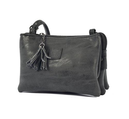 Bicky Bernard Bag - bags - bags - Bag- Bicky Bernard- Harmonica 3-Pouch bag - shoulder bag - crossbody bag - black