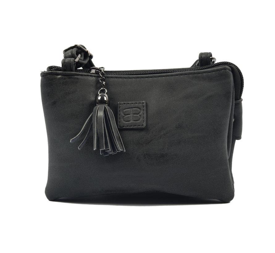 Bag - bags - bags - Bag- Bicky Bernard- Harmonica 3-Pouch bag - shoulder bag - crossbody bag - black