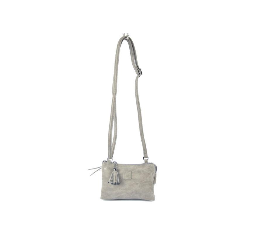 Bag - bags - bags - Bag- Bicky Bernard- Harmonica 3-Pouch bag - shoulder bag - crossbody bag - Grey
