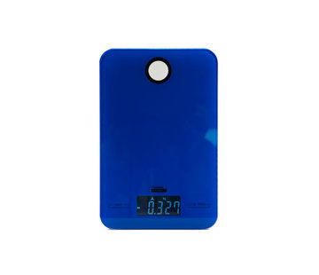 Discountershop Digital kitchen scale 5 KG with kitchen timer \ Blue