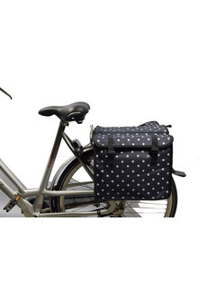 Discountershop Double Pannier waterproof with reflective stripes for extra safety - Pannier Blue - white