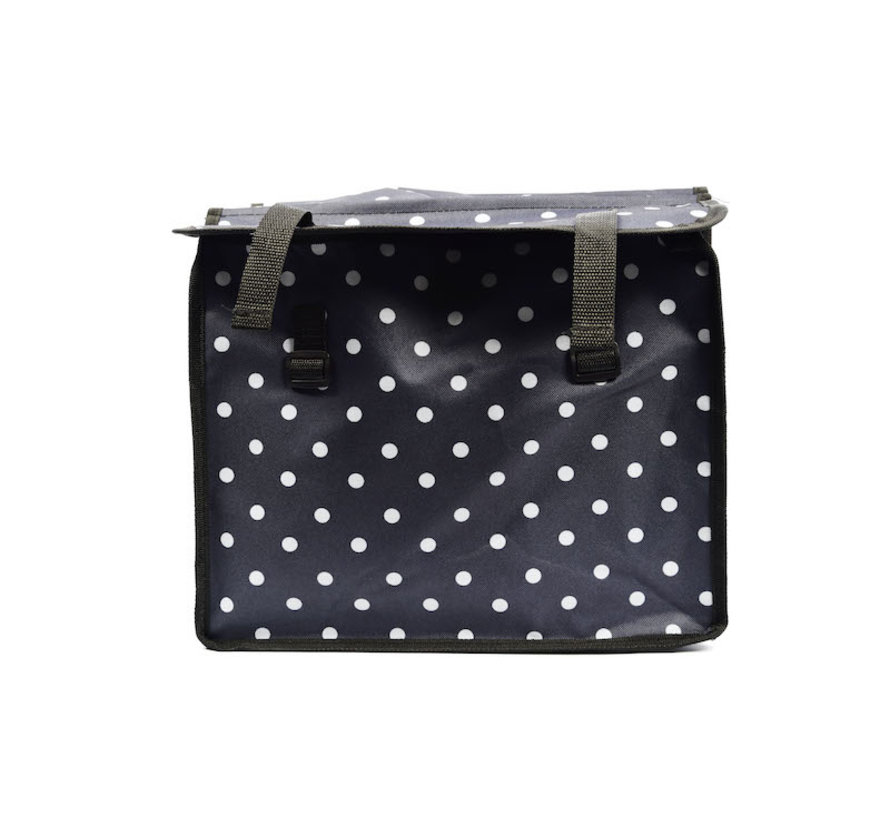Double Pannier waterproof with reflective stripes for extra safety - Pannier Blue - white