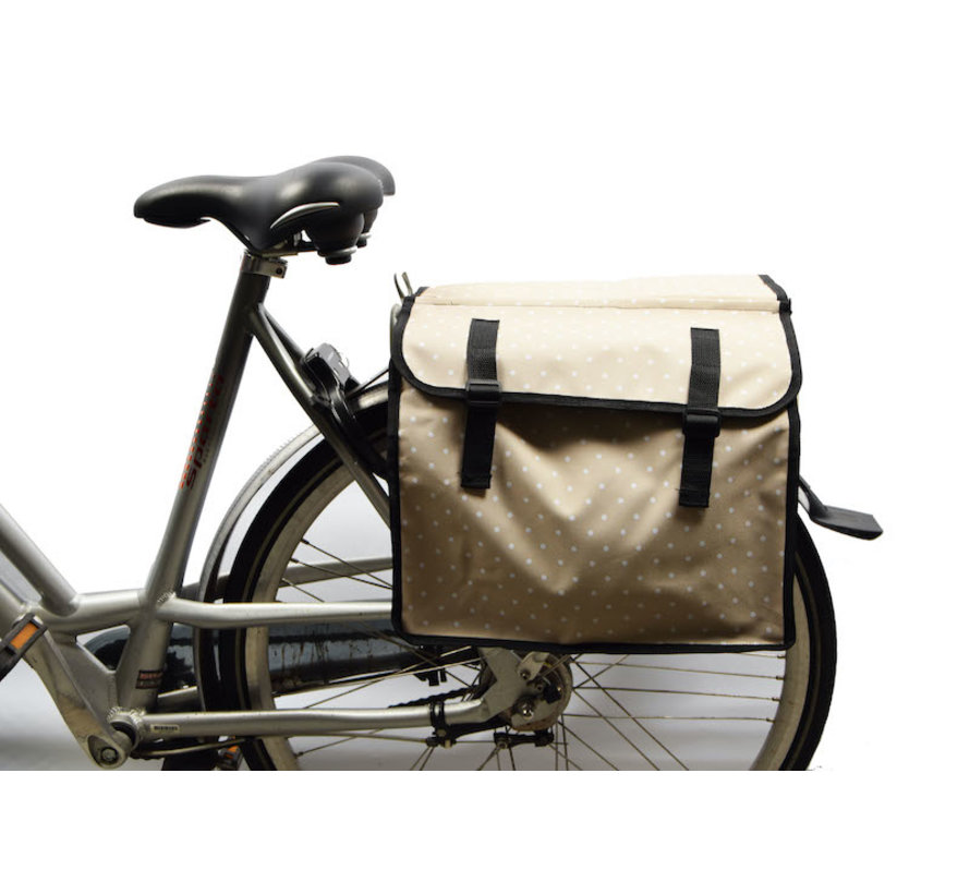 Double Pannier waterproof with reflective stripes for extra safety - Pannier yellow-white \ small size