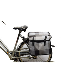 Discountershop Double Pannier waterproof with reflective stripes for extra safety - Pannier multi