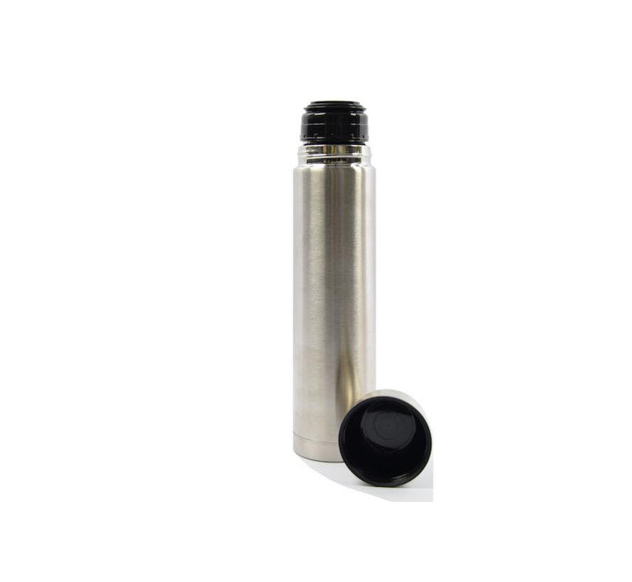 Isoleerfles dubbelwand met inhoud van 1 liter