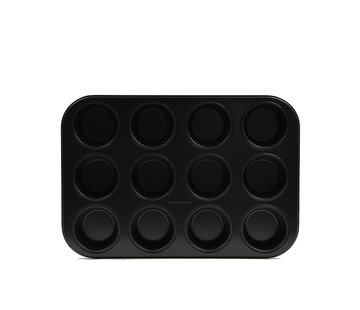 Discountershop muffin tins 12 cups with non-stick coating \ small size