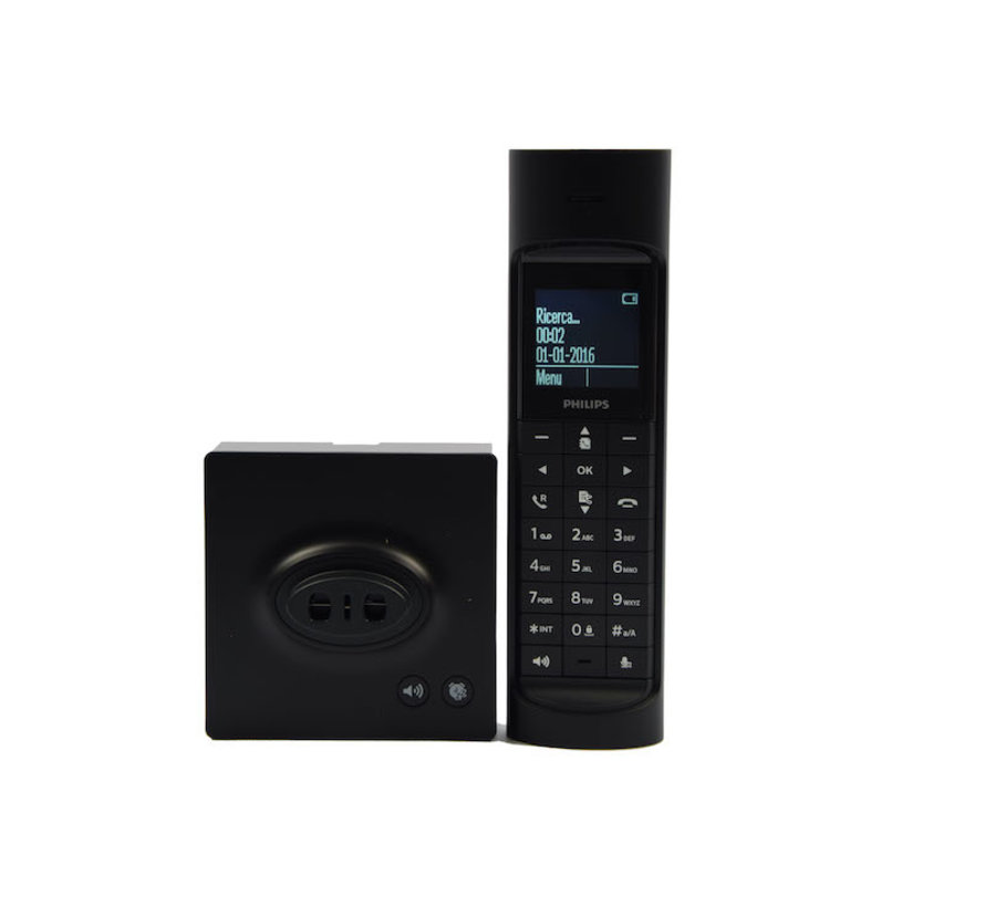Philips M7701B23 - Single DECT telephone - Caller ID - Black \ Small size