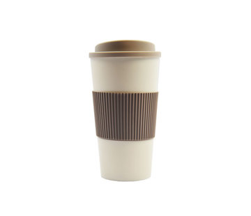 Discountershop travel cup, coffee cup, coffee to go cup, CRUISING TRAVEL MUG - To-Go cup \ Beige