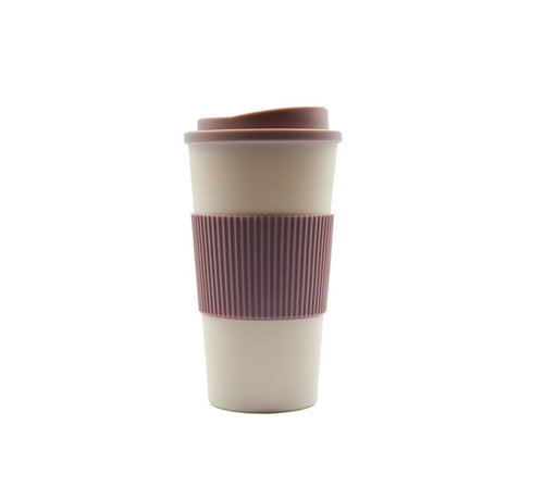 Discountershop travel cup, coffee cup, coffee to go cup, CRUISING TRAVEL MUG - To-Go cup \ Pink \ small size