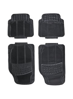 Discountershop Universal car mat set - Black - 4-part car mats \ Small size