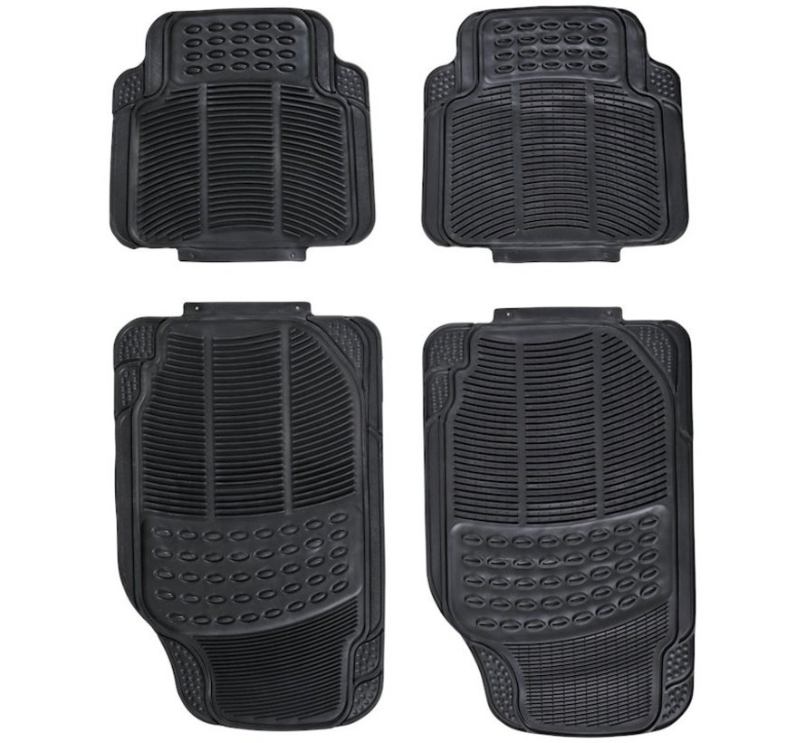Universal car mat set - Black - 4-part car mats \ Small size