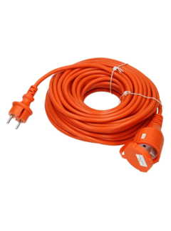 Discountershop Extension cord 10 meter orange \ small size