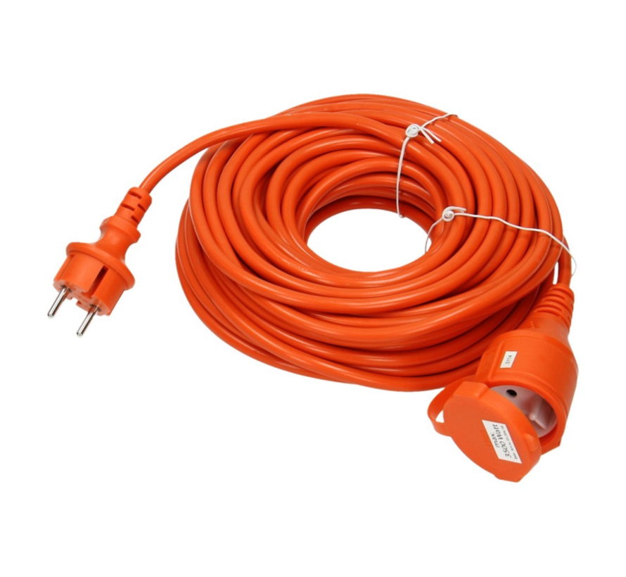 Extension cord 10 meter orange \ small size