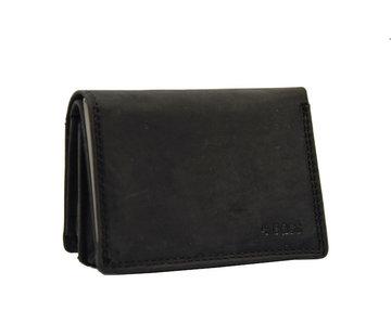 4East Kleine portemonnee van buffelleer, met kleine geld- zeer compact - RFID - vakantie portemonnee - Mini portemonnee.