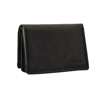 4East Small wallet of buffalo leather, with small money - very compact - RFID - holiday wallet - Mini wallet.