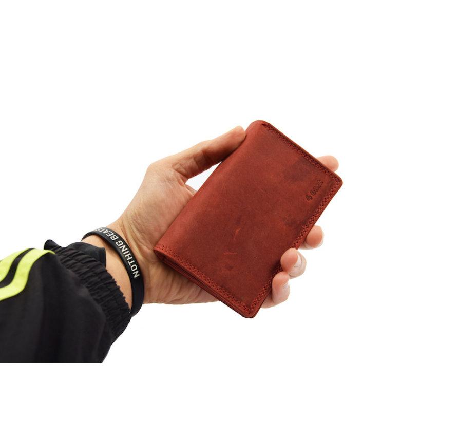 Portemonnee - Portemonnee dames - Portemonnee heren - Portemonnee pasjes - RFID Protected Anti skim - Dames portemonnee- Huishoud portemonnee - Harmonica portemonnee buffelleer - Rood Portemonnee - Rood-Dames portemonnee- Huishoud portemonnee