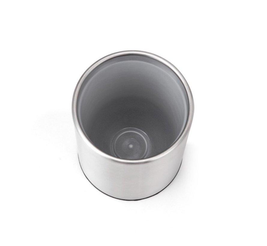 Toiletborstel RVS - Wcborstel Rvs - RVS Toiletborstel in houder - Toiletborstelhouder - Wc borstel