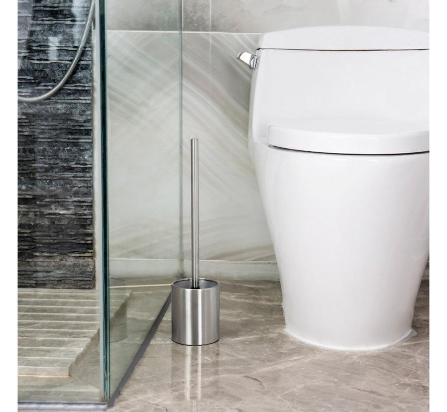 Toilet brush Stainless steel - Toilet brush Stainless steel - Stainless steel Toilet brush in holder - Toilet brush holder - Toilet brush