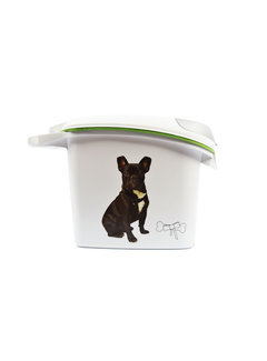 Discountershop voercontainer - Voedselcontainer hond 6kg / 15Ltr - Food container 6kg/15Ltr