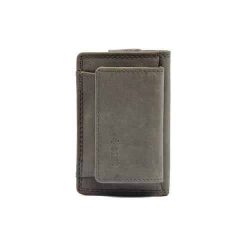 4East Portemonnee - vakantie portemonnee - Compact portemonnee - Buffelleer portemonnee - Kleine portemonnee - Portemonnee - mini portemonnee -