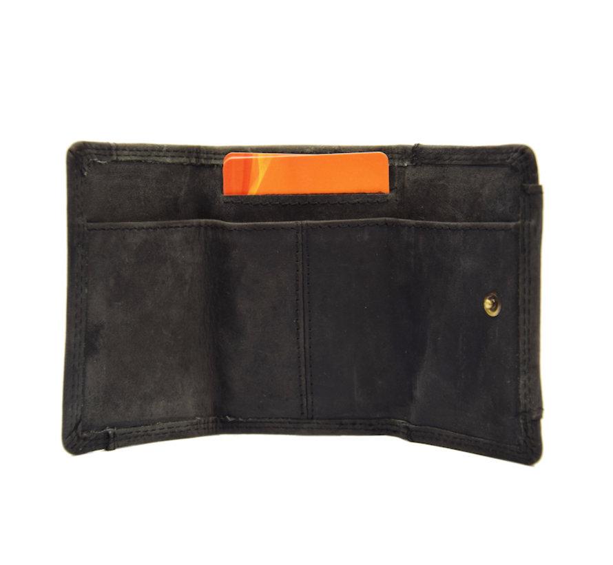 Portemonnee - vakantie portemonnee - Compact portemonnee - Buffelleer portemonnee - Kleine portemonnee - Portemonnee - mini portemonnee
