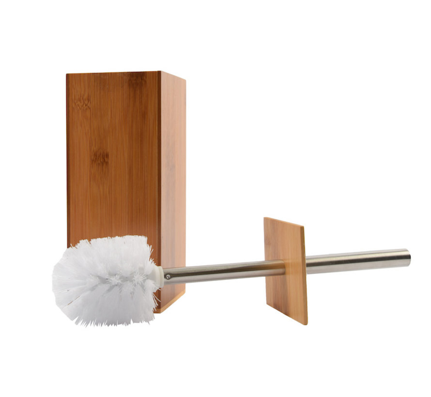 Toilet brush wood 8mm thick - toilet brushes - WC Bamboo light color - Toilet brush holder with toilet brush holder - Wooden brush holder