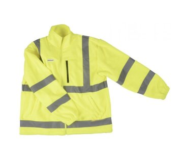 Discountershop Safety vest with high visibility - Reflector vest - Warning vest high reflector safety jacket with pockets - safety jacket - warm safety jacket -
