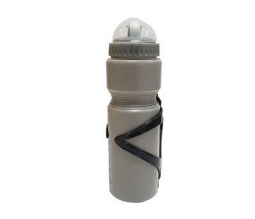 Discountershop Bottle with holder for your bike - bike bottle Grey