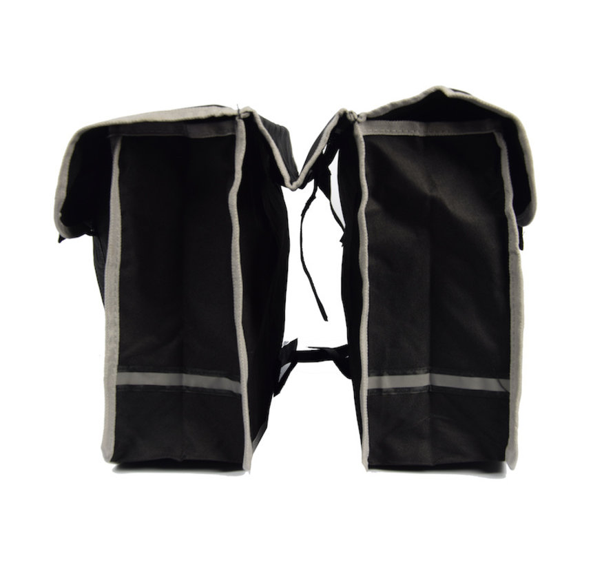 Double Pannier waterproof with reflective stripes for extra safety - Pannier 32 Liter black