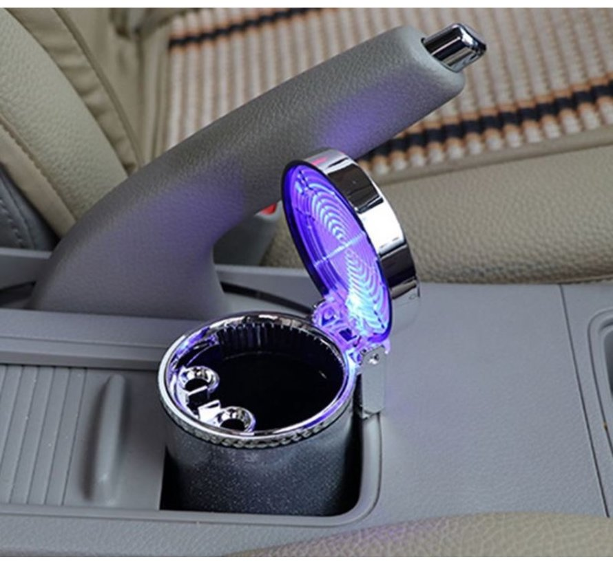 Odorless Auto Ashtray with LED lighting incl BATTERY