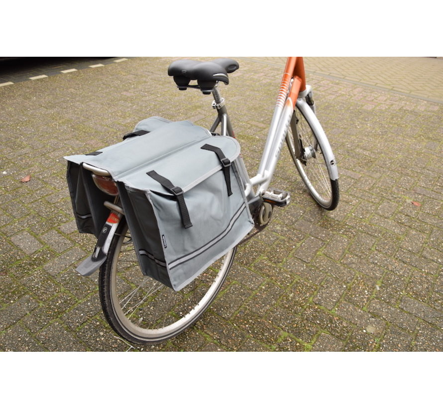 Double Pannier waterproof with reflective stripes for extra safety - Pannier Gray